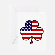 'USA Shamrock' Greeting Card