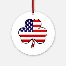 'USA Shamrock' Ornament (Round)
