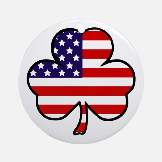 'USA Shamrock' Ornament (Round)