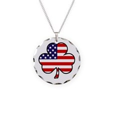 'USA Shamrock' Necklace Circle Charm