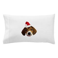 Beagle_Xmas_face001 Pillow Case