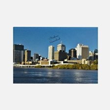 Brisbane, Queensland Skyline Rectangle Magnet