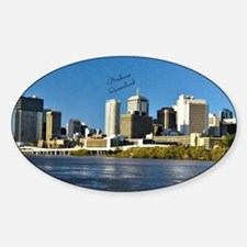 Brisbane, Queensland Skyline Sticker (Oval)