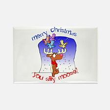 Unique Christmas goose Rectangle Magnet