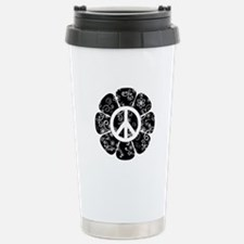 Peace Symbol Flower Travel Mug