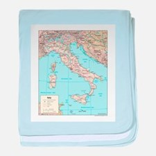 Italy Map baby blanket