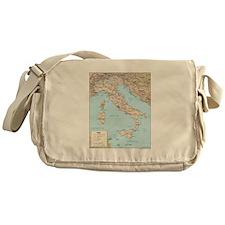 Italy Map Messenger Bag
