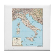 Italy Map Tile Coaster