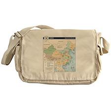 China Map Messenger Bag