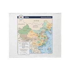 China Map Throw Blanket