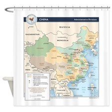 China Map Shower Curtain