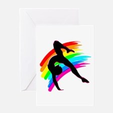 DAZZLING GYMNAST Greeting Card