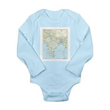India Map Long Sleeve Infant Bodysuit
