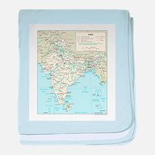 India Map baby blanket