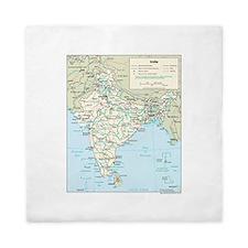 India Map Queen Duvet