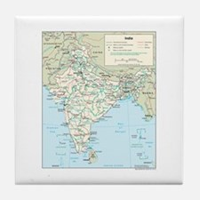 India Map Tile Coaster