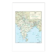 India Map Postcards (Package of 8)