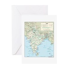 India Map Greeting Card