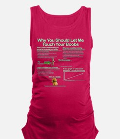 Touch Your Boobs Maternity Tank Top