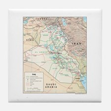 Iraq Map Tile Coaster