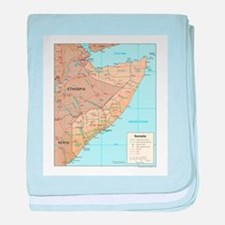 Somalia Map baby blanket