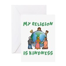 My Religion is Kindness Greeting Card