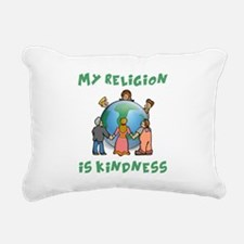 My Religion is Kindness Rectangular Canvas Pillow