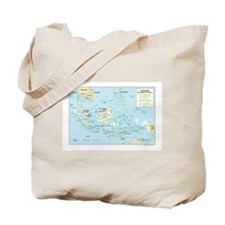 Indonesia Map Tote Bag