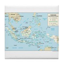Indonesia Map Tile Coaster