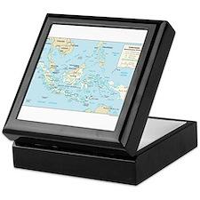 Indonesia Map Keepsake Box