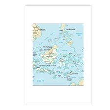 Indonesia Map Postcards (Package of 8)