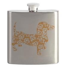 Hawaiian Doxie Dachshund Flask