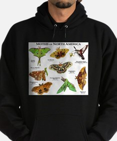 Moths of North America Hoodie (dark)