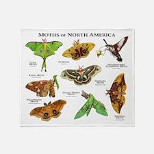 Moths of North America Throw Blanket