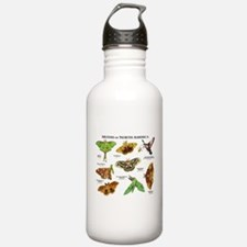Moths of North America Water Bottle