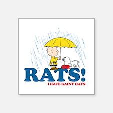 "Rats! Square Sticker 3"" x 3"""