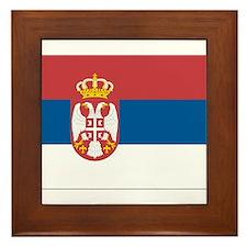 Flag of Serbia Framed Tile
