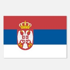 Flag of Serbia Postcards (Package of 8)