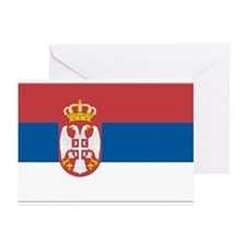 Flag of Serbia Greeting Cards (Pk of 10)