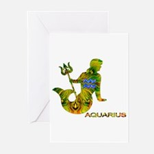 AQUARIUS.png Greeting Cards