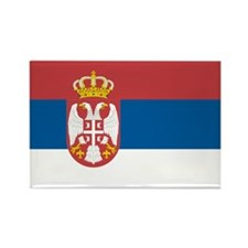 Flag of Serbia Rectangle Magnet (100 pack)