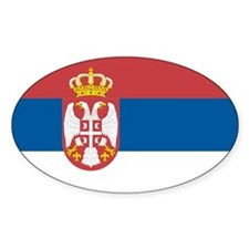 Flag of Serbia Oval Decal