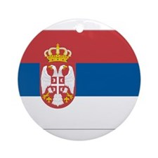 Flag of Serbia Ornament (Round)