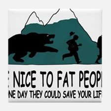 Fat people Tile Coaster