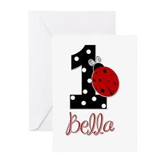 1 Ladybug BELLA - Custom Greeting Cards