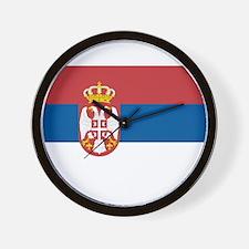 Flag of Serbia Wall Clock