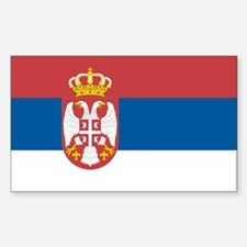 Flag of Serbia Rectangle Decal