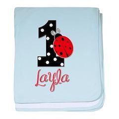 1 Ladybug LAYLA - Custom baby blanket