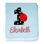 1 Ladybug ELISABETH - Custom baby blanket