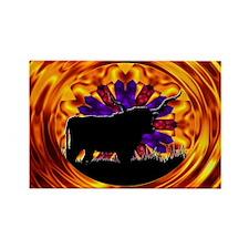 Texas Longhorn Rectangle Magnet (100 pack)